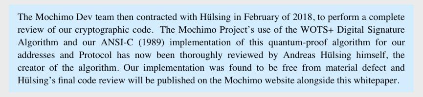 Mochimo Quantum Resistant Algorithm